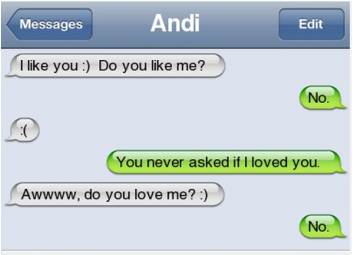 Very clever text message | Memes.com